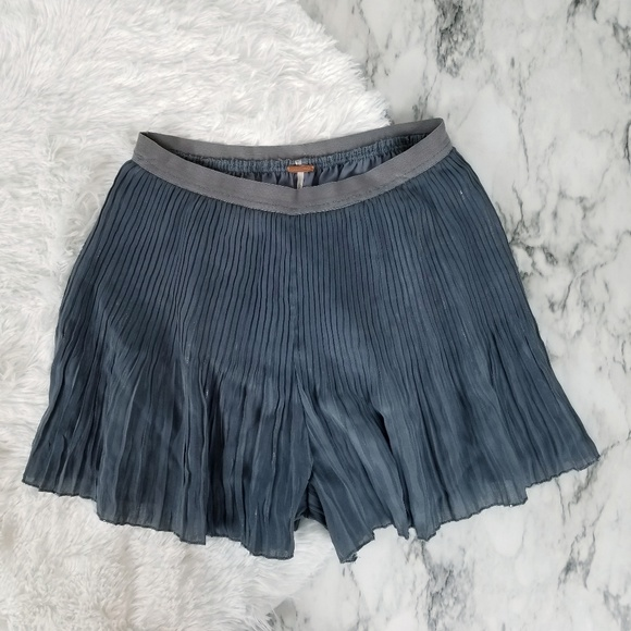Free People Pants - Free people metallic pleated shorts size medium